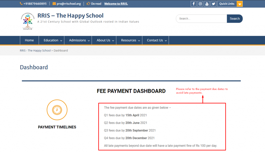Payment timelines