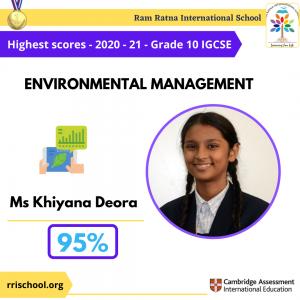 Environmental management Topper IGCSE 2021