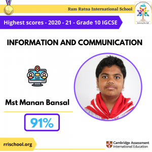 Information and communication Topper IGCSE 2021